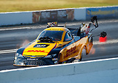 NHRA Mello Yello Drag Racing Series<br /> NHRA Summernationals<br /> Old Bridge Township Raceway Park, Englishtown, NJ USA<br /> Saturday 10 June 2017 J.R. Todd, DHL, funny car, Camry<br /> <br /> World Copyright: Mark Rebilas<br /> Rebilas Photo