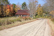 Autumn colors along Bog Road in Campton, New Hampshire USA which is part of scenic New England.