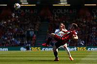 Martin Olsson of Swansea City marks Dan Gosling of Bournemouth during the Premier League match between AFC Bournemouth and Swansea City at Vitality Stadium in Bournemouth, England, UK. Saturday 05 May 2018