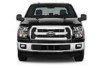 Straight Front View of 2015 Ford F-150 XLT Super Cab 2 Door Truck Stock Photo