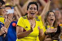 Tampa, FL - Thursday, October 11, 2018: Colombian fan during a USMNT match against Colombia.  Colombia defeated the USMNT 4-2.