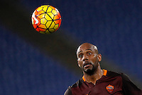 Calcio, Serie A: Roma vs Sampdoria. Roma, stadio Olimpico, 7 febbraio 2016.<br /> Roma's Maicon eyes the ball during the Italian Serie A football match between Roma and Sampdoria at Rome's Olympic stadium, 7 January 2016.<br /> UPDATE IMAGES PRESS/Riccardo De Luca