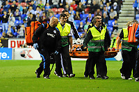Tuesday, 7 May 2013<br /><br />Pictured: Michel Vorm of Swansea City is taken away on a stretcher<br />Re: Barclays Premier League Wigan Athletic v Swansea City FC  at the DW Stadium, Wigan