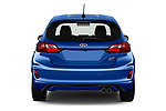 Straight rear view of a 2018 Ford fiesta st Ultimate 5 Door Hatchback stock images