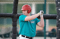 Brandon Troxler (68), from Rockwall, Texas, while playing for the Mariners during the Baseball Factory Pirate City Christmas Camp & Tournament on December 29, 2017 at Pirate City in Bradenton, Florida.  (Mike Janes/Four Seam Images)