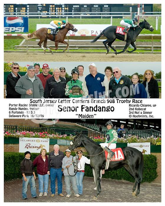 Senor Fandango winning at Delaware Park on 10/12/09