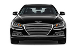 Car photography straight front view of a 2017 Genesis G80 3.8-AWD 4 Door Sedan Front View