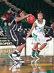 \\Troy Trojans guard DeAngela Sword (22) in action during the game between the Troy Trojans and the University of North Texas Mean Green at the North Texas Coliseum,the Super Pit, in Denton, Texas. UNT defeats Troy 57 to 36.....