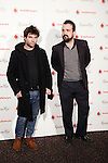 Spanish director Nacho Vigalondo (R) attends the Russian Red concert at La Riviera Club on March 3, 2014 in Madrid, Spain. (ALTERPHOTOS/Victor Blanco)