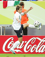 Bobby Convey of the USA pulls in a pass. The USA and Italy played to a 1-1 tie in their FIFA World Cup Group E match at Fritz-Walter-Stadion, Kaiserslautern, Germany, June 17, 2006.