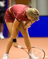 16-12-07, Netherlands, Rotterdam, Sky Radio Masters, Michaella Krajicek in de problemen in de finale tegen  Renée Reinhard