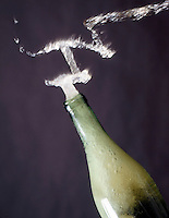 CARBONATION - SODA FOAMING OUT OF BOTTLE<br />