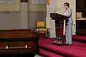US Rep. Nancy Pelosi speaks at former US Rep. Lindy Boggs' funeral at St. Louis Cathedral, New Orleans, Aug. 1, 2013.