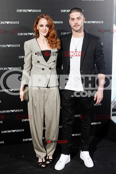 Ana Polvorosa and Luis Fernandez attends the Emporio Armani Boutique opening at Serrano street in Madrid, Spain. April 08, 2013. (ALTERPHOTOS/Caro Marin) /NortePhoto
