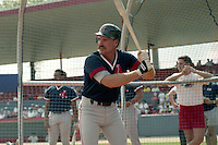 Boston Red Sox third baseman Wade Boggs (26) during spring training circa 1991 at Chain of Lakes Park in Winter Haven, Florida.  (MJA/Four Seam Images)