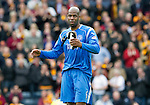Motherwell v St Johnstone.....16.04.11  Scottish Cup Semi-Final.Michael Duberry acknowledges the saints fans at full time.Picture by Graeme Hart..Copyright Perthshire Picture Agency.Tel: 01738 623350  Mobile: 07990 594431