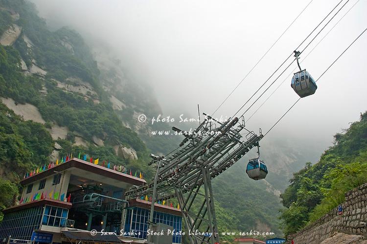 Cable car departure station at Hua Shan Xian Shaanxi China. Sami Sarkis Stock Photo Library