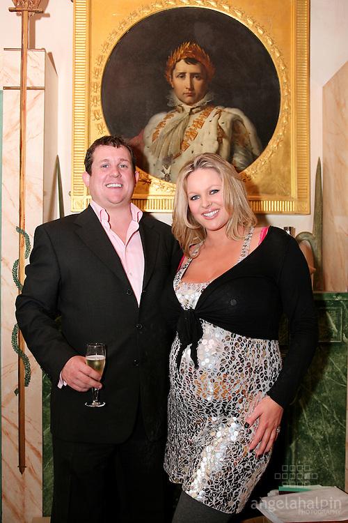 Amanda Brunker and partner Philip