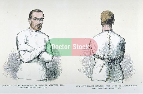 man wearing straitjacket