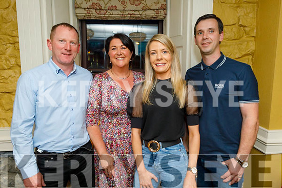 Liam and Noelle Kingston, Andrea Brown and Mike Sullivan enjoying the evening in the Brogue Inn on Saturday