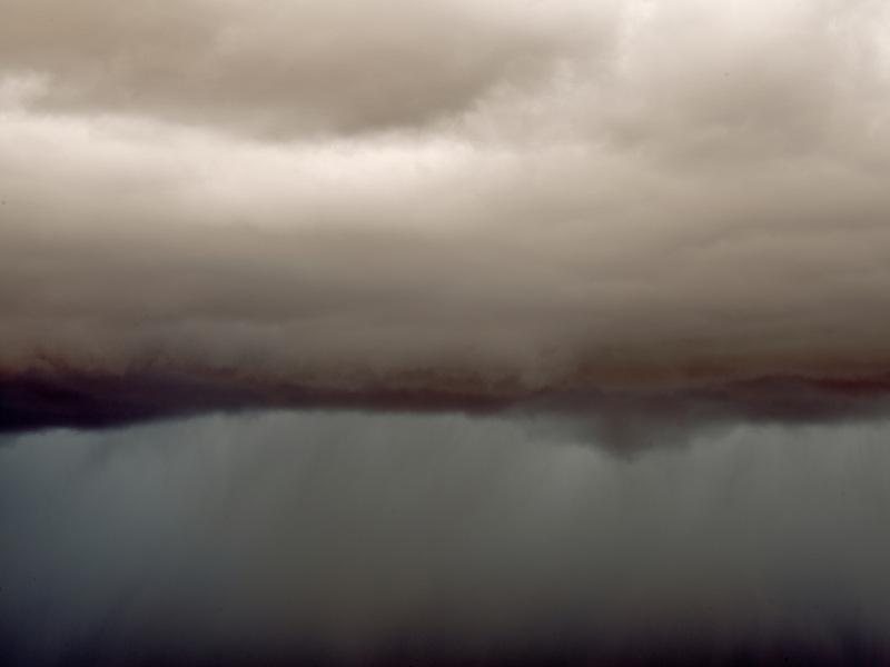 Clouds over coal mine canyon, AZ