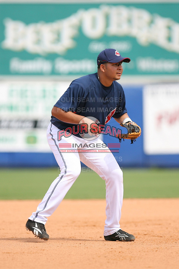 March 20th 2008:  Johnny Peralta of the Cleveland Indians during a Spring Training game at Chain of Lakes Park in Winter Haven, FL.  Photo by:  Mike Janes/Four Seam Images