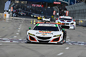 2017 IMSA WeatherTech SportsCar Championship<br /> BUBBA burger Sports Car Grand Prix at Long Beach<br /> Streets of Long Beach, CA USA<br /> Saturday 8 April 2017<br /> 93, Acura, Acura NSX, GTD, Andy Lally, Katherine Legge<br /> World Copyright: Richard Dole/LAT Images<br /> ref: Digital Image RD_LB17_366