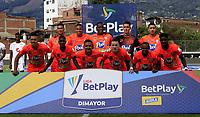 ENVIGADO - COLOMBIA, 01–08-2021: Jugadores de Envigado F. C., posan para una foto, antes de partido entre Envigado F. C., y America de Cali de la fecha 3 por la Liga BetPlay DIMAYOR II 2021, en el estadio Polideportivo Sur de la ciudad de Envigado. / Players of Envigado F. C., pose for a photo, prior a match between Envigado F. C., and America de Cali of the 3rd date for the BetPlay DIMAYOR II League 2021 at the Polideportivo Sur stadium in Envigado city. / Photo: VizzorImage / Juan A. Cardona / Cont.