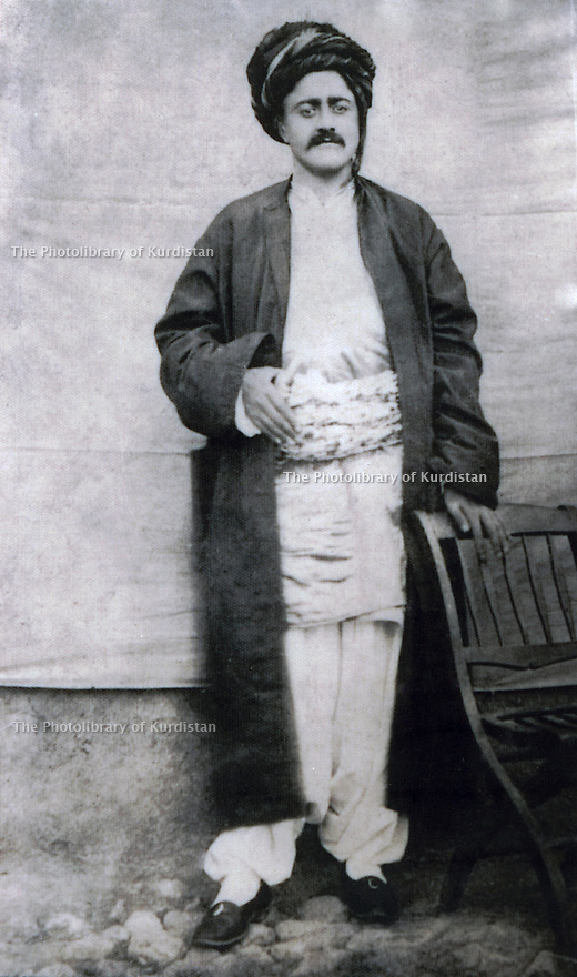 Iran 1884.<br /> Aziz Beg Nobahar, Kurdish chieftain, also named Great Aziz Beg, in his village of Nobahar.<br /> Iran 1884.<br /> Aziz Beg Nobahar, chef de tribu, aussi denomme le Grand Aziz Beg, dans son village de Nobahar