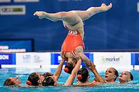 COSTELLO Millicent / DAVIES Isobel<br /> GUNN Daisy / HUGHES Cerys<br /> LARSEN Cerys / LLOYD Daniella<br /> SWATMAN Robyn / TURBERVILLE Laura <br /> GBR <br /> TEAM FREE Final <br /> Artistic Swimming<br /> Budapest  - Hungary  14/5/2021<br /> Duna Arena<br /> XXXV LEN European Aquatic Championships<br /> Photo Andrea Staccioli / Deepbluemedia / Insidefoto