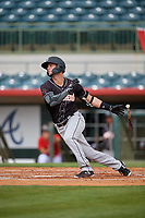 Jupiter Hammerheads Micah Brown (5) at bat during a Florida State League game against the Florida Fire Frogs on April 8, 2019 at Osceola County Stadium in Kissimmee, Florida.  Florida defeated Jupiter 7-6 in ten innings.  (Mike Janes/Four Seam Images)