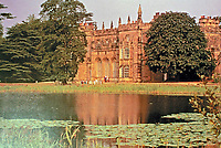Arbury Hall is a country home in Warwickshire, England. It is a mixture of Tudor and 18th C. Gothic Revival architecture. Ancestral home of the Newdigate family.