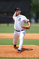 GCL Tigers West pitcher Drew Carlton (47) during a game against the GCL Pirates on July 17, 2017 at TigerTown in Lakeland, Florida.  GCL Tigers West defeated the GCL Pirates 7-4.  (Mike Janes/Four Seam Images)