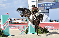 MIAMI BEACH, FL - APRIL 15: Alberto Zorzi at the Longines Global Champions Tour stop in Miami Beach. The winner was Jerome Guery (BE), second place was Alberto Zorzi (IT) and third place was Nicola Philippaerts (BE). Also riding but did not make the finals was Georgina Bloomberg, Jessica Rae Springsteen and Jennifer Gates on April 15, 2017 in Miami Beach, Florida.<br /> <br /> People:  Alberto Zorzi