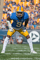 Pitt defensive back Jordan Whitehead. The North Carolina Wolfpack defeated the Pitt Panthers 35-17 at Heinz Field, Pittsburgh, PA on October 14, 2017.