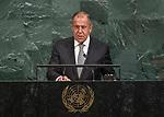 72 General Debate – 20 September <br /> <br /> Sergey Lavrov  Russian FM