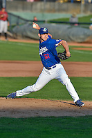 Brian Bass (51) of the Ogden Raptors delivers a pitch to the plate against the Idaho Falls Chukars in Pioneer League action at Lindquist Field on September 3, 2016 in Ogden, Utah. The Chukars defeated the Raptors 3-0. (Stephen Smith/Four Seam Images)