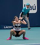 March 25, 2019: Petra Kvitova (CZE) defeated Caroline Garcia (FRA) 6-3, 6-3, at the Miami Open being played at Hard Rock Stadium in Miami, Florida. ©Karla Kinne/Tennisclix 2010/CSM