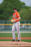 Baltimore Orioles Mike Wright (59) during a minor league Spring Training intrasquad game on April 2, 2016 at Buck O'Neil Complex in Sarasota, Florida.  (Mike Janes/Four Seam Images)