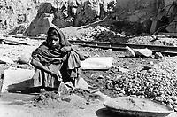 India, Narmada River, Narmada dams and protest movement of NBA Narmada Bachao Andolan, movement to save the Narmada river, and affected Adivasi in their villages, Kevadya Colony, construction site SSP Sardar Sarovar Dam