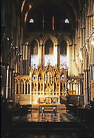 Ely: Ely Cathedral--High Altar from Choir. Early 13th century. Photo '90.