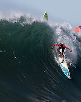 Half Moon Bay - Ca, Sunday, January 20, 2013: Peter Mel competes during the 2013 Mavericks Invitational..