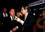 ALBERTO SORDI CON VITTORIO SGARBI<br /> CINEMA EMPIRE ROMA 1998