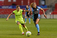 Chicago, IL - Sunday Sept. 04, 2016: Nahomi Kawasumi, Casey Short during a regular season National Women's Soccer League (NWSL) match between the Chicago Red Stars and Seattle Reign FC at Toyota Park.
