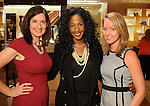 From left: Kathryn Straw, Tanara Landor and Tereke at a special evening in honor of Alley Theatre's Wild Things at the Louis Vuitton store in The Galleria Wednesday Sept. 30,2015.(Dave Rossman photo)