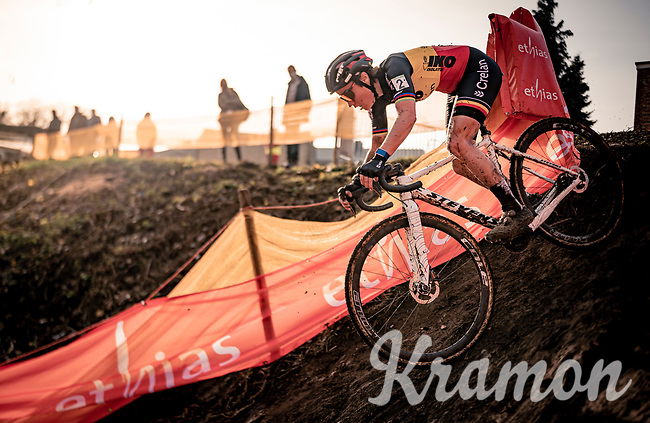 Belgian National Champion Sanne Cant (BEL/Iko-Crelan)<br /> <br /> Jaarmarktcross Niel (BEL) 2020<br /> Womens Race<br /> <br /> ©kramon