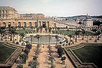Palace of Versailles, panoramic view.