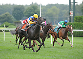 Nehantic Kat wins Yaddo Stakes at Saratoga on Aug. 23, 2009. Tod Marks Photo