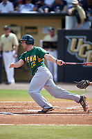 Siena Saints third baseman Jordan Folgers (12) at bat during a game against the UCF Knights on February 21, 2016 at Jay Bergman Field in Orlando, Florida.  UCF defeated Siena 11-2.  (Mike Janes/Four Seam Images)