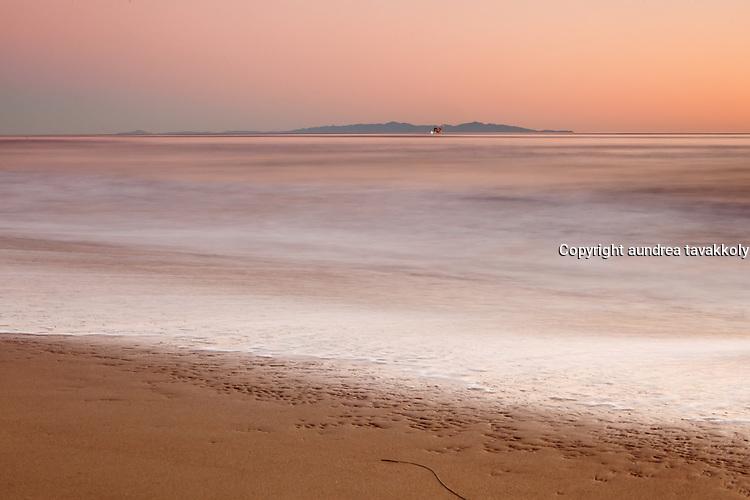 Santa Cruz island view off the gaviota coast, santa barbara, california